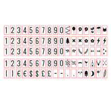 Black Numbers & Glyphs Card For A4 Size LED Cinematic Light box(Include 85pcs) Cinema Lightbox Numbers Pack