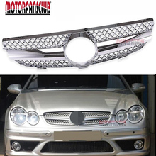 Full Chrome Type Front Hood Sport Mesh Grille Genuine Factory Original For Mercedes Benz W209 CLK Class 2003-2009(China)