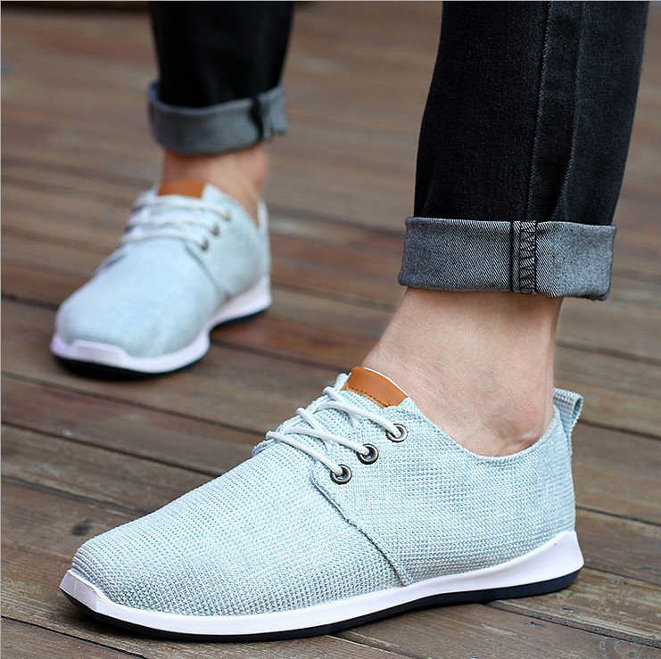 Fashion men shoes mens casual shoes flats soild breathable leisure flat<br><br>Aliexpress