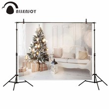 Allenjoy photography theme background White Modern Sofa Christmas Tree children naturism children photos camera fotografica