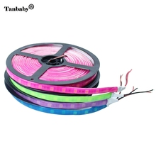 New Orange Blue Pink Purple Green Color 5050 SMD Glue Neon LED strip flexible light Waterproof 60LED/m 5m/lot outdoor led tape