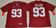 NIKE Alabama Crimson Tide Jonathan Allen 93 College Ice Hockey Jerseys Limited Jersey 2 colors Size S,M,L,XL,2XL,3XL(China)