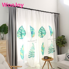 Brand New European Green Leaves Pastoral Living Room window curtains curtains for Bedding room corina Kids Room decoration