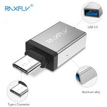 RAXFLY Type C Adapter For USB 3.0 Male to Micro USB Female Aluminum Type-C Adapter OTG Converter For Samsung Galaxy For Xiaomi(China)