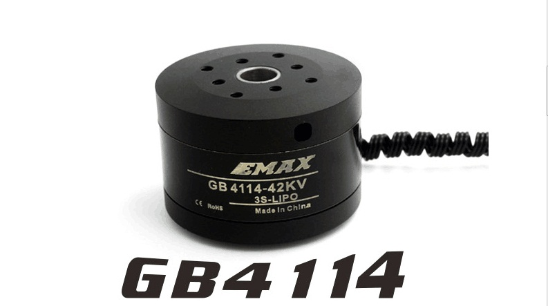 Free Shipping (2 pcs/lot) EMAX GB4114 42KV Brushless Motor KV42 For 2-axis BGC Brushless Camera Gimbal Remote Control Airplane<br>