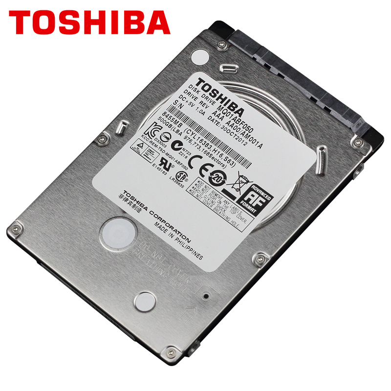 "TOSHIBA Laptop Hard Drive Disk 500GB 500G Internal HDD HD 2.5"" 5400 RPM 8M Cache 7mm SATA 2 MQ01ABF050 Original New for Notebook(China (Mainland))"