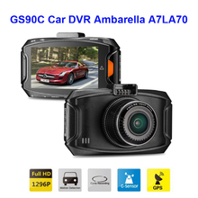 GS90C Car DVR Ambarella A7LA70 1296P 30FPS Car Camera Video Recorder G90C 170 Degree HDR H.264 G-sensor Black Box GPS Module