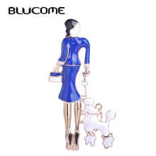 Hot Sale Fashion Sexy Dress Girls Brooches Black Enamel Bag Ladies Corsage Pins Suit Scarf Buckles Gold Metal Pin Up Jewelry(China)