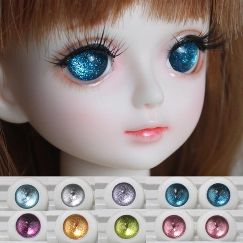 16mm Hand Made BJD Doll Eyes Pearlized Purple Acrylic Half Ball