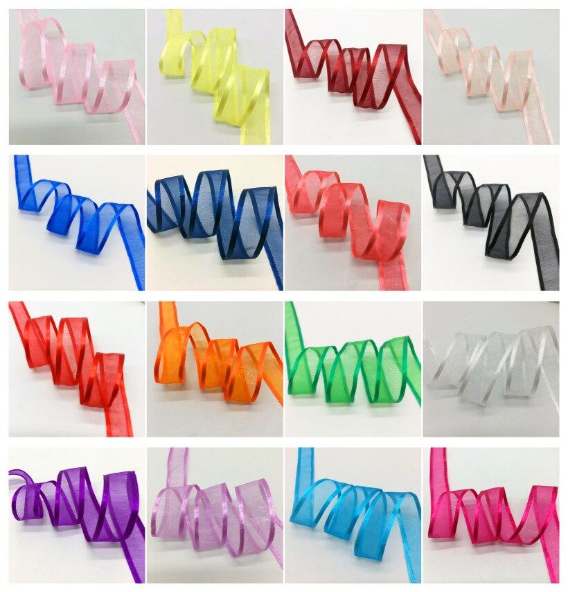 """10yds 1//4/""""  Satin Edge Sheer Organza Ribbon Bow Hair Wedding Craft Pick color"""