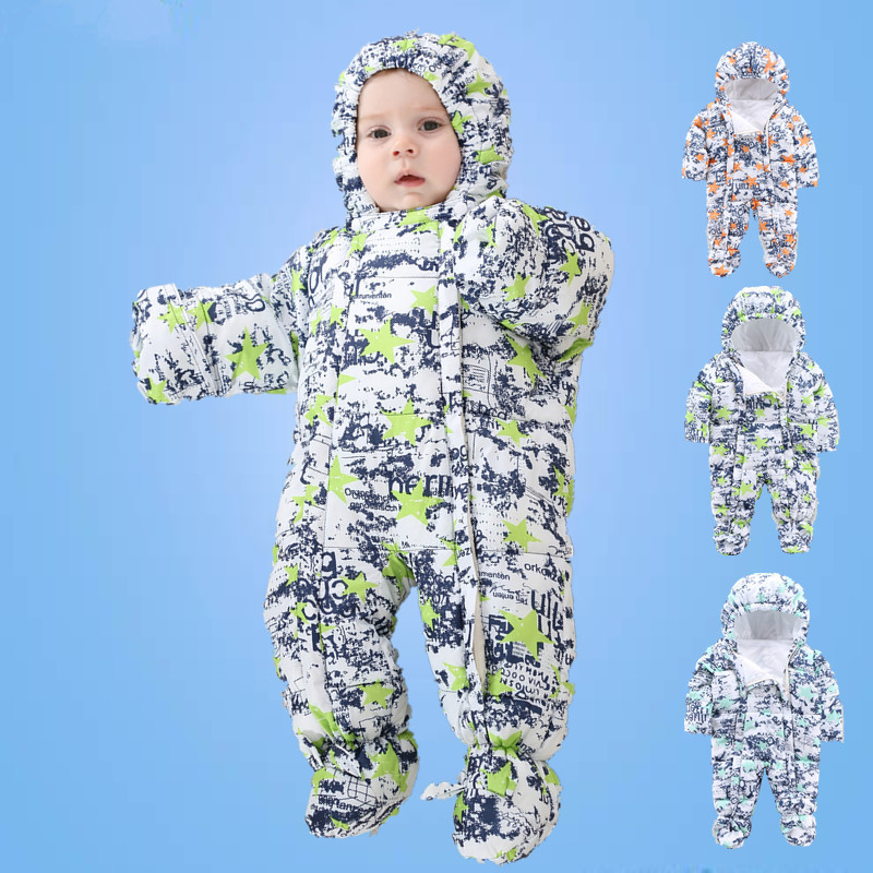 Winter new baby long sleeve rompers cute infant cotton hooded long sleeve camouflage stars jumpers lovely infant overalls 16A12<br><br>Aliexpress