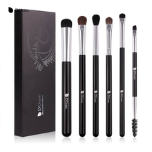 DUcare Makeup Brushes Professional 6 Pcs/Sets Eye Shadow Concealer Eyebrow Brush Comestic Tool Make Up Eye Brushes Set(China)