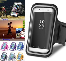 For Z5 Z3+ Dual XZ Premium C3 arm band bag Case Running Sleeve Pouch Exercise Sport Riding Support Mobile Phone Cases(China)