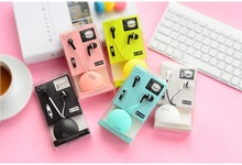 Bests new Macaroon Earphones Cute earphone with Mic for iphone5 Xiaomi Samsung Phone MP3/4 Player PC(China)