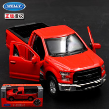 1:36 12cm new Welly Ford F-150 Pickup truck car alloy vehicle model pull back cool boy birthday toy