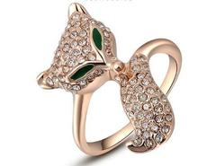 Timlee  Classic Genuine Austrian Crystals Sample Sales Rose Grace Novel The Fox Ring Jewelry Party OFF