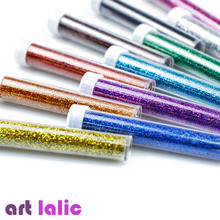 Artlalic 6 Bottles Nail Glitter Pigment Powder Dust Manicure Nail Art Fine Glitters Decorations Tools Salon Body(China)