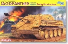 DRAGON 6458  1/35 Scale JAGDPANTER sd.kfz.173 Ausf.G1 Early Production Plastic Model Building Kit