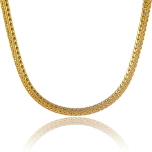 2015 64 CM Long Hot Selling Fancy 24k Gold Cover Link Chain Necklace Classic Style Excellent Gift For Men/Women(China)