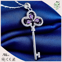 Popular Sterling Silver  Key Pendant For Silver Necklace