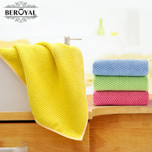 Beroyal 2017 NEW Kitchen Towel-- 4PC/lot 35*35CM Microfiber Cleaning Cloth Household Dishcloth/pano de prato 130034(China)