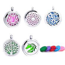 1pc 100% 316L Stainless Steel Locket Dream Catcher Perfume Necklace Pendants Aromatherapy Essential Oil Diffuser Necklace Locket(China)