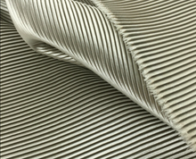 "2 meters 150cm 59.05"" width light silver gray fine stripe crumple accordion pleated faux silk satin fabric MM2"
