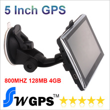 free shipping 5 inch Car GPS Navigator MTK2531 V912S 128MB 4GB memorey 800MHZ FMT MP3 MP4 Game Free World maps