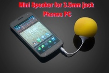 colorful Faster Mini Sponge Ball Speaker 3.5mm jack cable for iPhone iPod MP3 iPad Tablet PC Samsung HTC Cell Phones