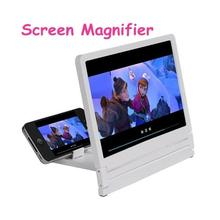 3D Movie Screen Enlarge Magnifier HD Projector Portable Folding Stand Mobile Phone Lens for Smart Mobile Phones White