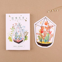 30 pcs/lot Glass greenhouse heteromorphism postcard Happy birthday greeting card christmas universal message card gift card