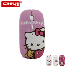 4 Pattern Wireless Mouse Mice Hello Kitty 2.4G USB Optical Mouse Mause Cute Ultra-thin Mouse For Computer PC Lovely Girl Gift