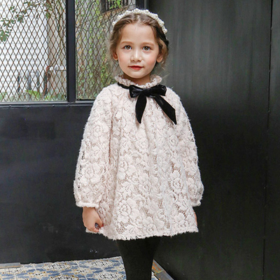 Winter new girl lace dress Princess Dress<br>