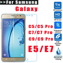 Screen Protection Tempered Glass For Samsung Galaxy E5 E7 C5 C7 C9 Screen Protector Film 9H Hardness Explosion Proof Ultra-thin