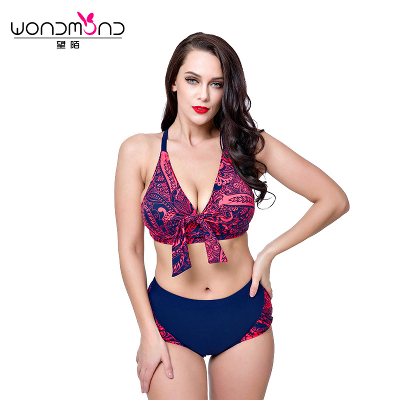 Plus Size Bikini 2018 New Swimwear Women  Biquini Swimsuit Women Underwire Push Up Bikini Set Beachear Maillot De Bain Femme <br>