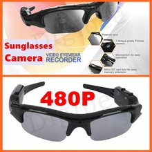 New Cool Eyewear Digital Camera 480P Audio Video Recorder Video Glasses Mini Camcorder DV DVR Sunglasses With Camera PC Webcam