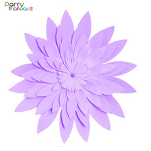 PF 50cm DIY Paper Flower Handmade Backdrop Props for Home Wedding Birthday Party Supplies Wall Hanging Decoration Crafts PD0270(China)