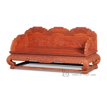 Chinese Style Classic Antique 3 Seat Sofa Bed Furniture Rosewood The Palace Chair Living Room Hotel Bar Chaise Lounge Solid Wood(China)