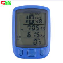 1pc  SunDing SD 563B Waterproof LCD Display Cycling Bike Bicycle Computer Odometer Speedometer with Green Backlight