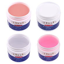 1PCS Nail IBD Gel UV Builder Nail Art Pink Clear White Beauty Salon 2oz / 56g Strong false tips extension polish 4 color option