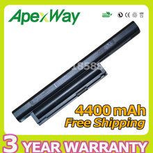 Apexway 4400mAh Laptop Battery for Sony BPS22 VGP-BPS22 VGP-BPS22A for VAIO VPC-E1Z1E VPC-EA1 EA16E EA1S EA1Z1E EA27EC EA45FG/B(China)