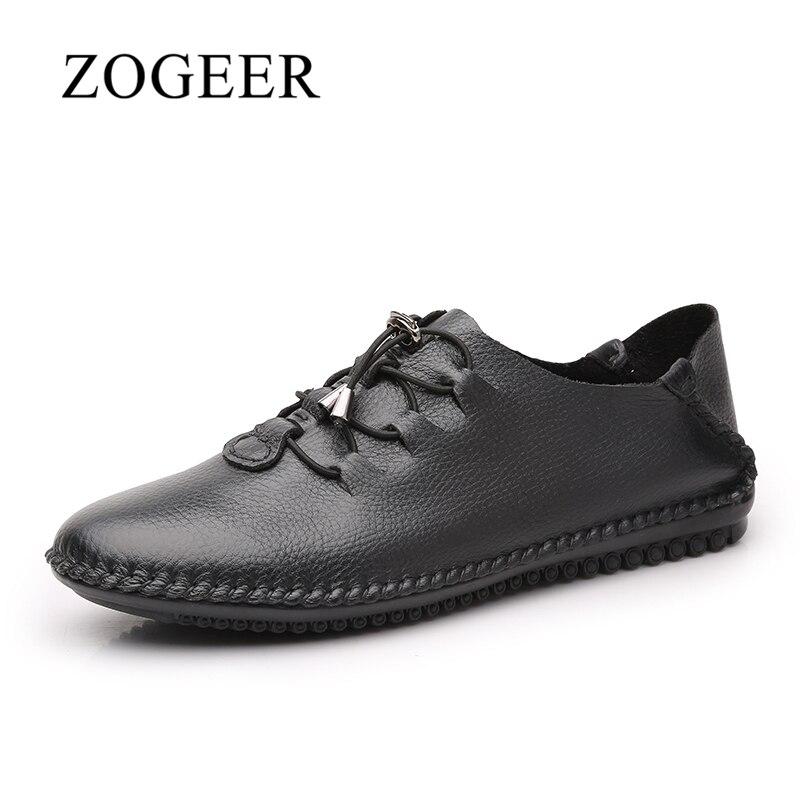 ZOGEER PLUS Size 38-48 Leather Men Casual Shoes, Hot Sale Handmade Men Shoes, Fashion Designer Man Leather Shoes<br>