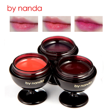 By Nanda Moisturize Red Wine Lipstick Fruity Jelly Lip Balm Natural Long Lasting for Lip Nourish Care Plant Extract Makeup(China)