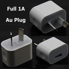 5V Full 1A AU Plug USB Wall Charger For iPhone 6/6S/6 Plus/7/ 7 Plus 4/4S/5/5S/5C/Samsung Travel Charger Power Adapter