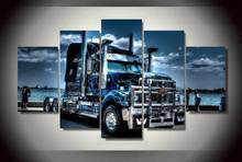 HD Printed truck Painting on canvas room decoration print poster picture canvas 5 panels Night view modern painting
