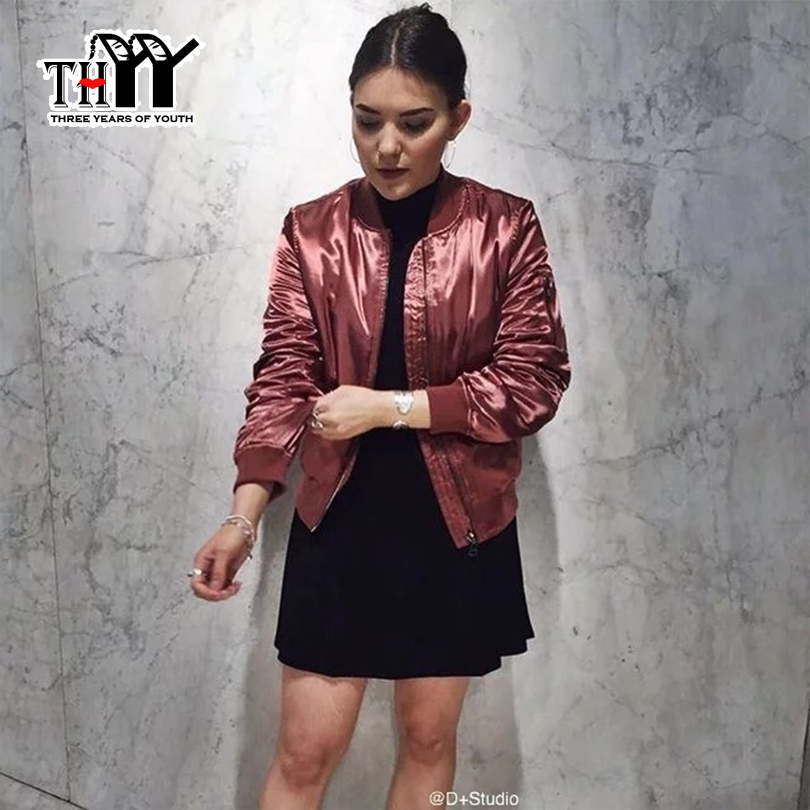 THYY 2017 Cotton Winter Bomber Jacket Women Basic Coats Black Cotton-padded Winter Womans Bomber Jacket Chaquetas Mujer CoatОдежда и ак�е��уары<br><br><br>Aliexpress