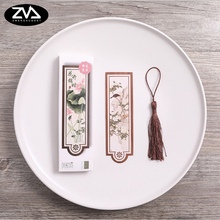 30pcs/box Cute Ink painting Kawaii Blossoming time Bookmarks Paper label Book Gift Office School Supply Stationery(China)