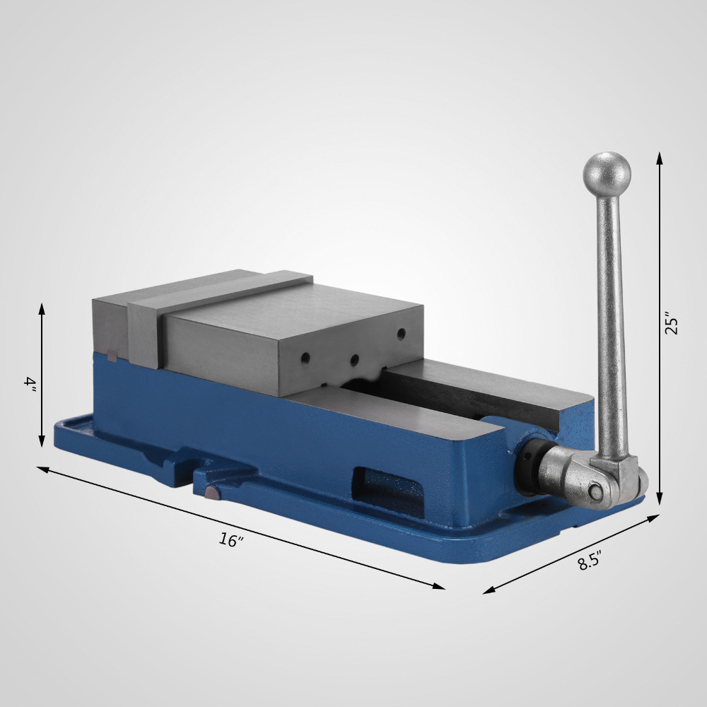 """125mm Precision Swivel Rotating Base Bench Vice Horizontal Solid Milling 5/"""""""
