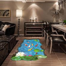 3D Stream Floor/Wall Sticker Removable Mural Decals Vinyl Art Living Room Decor Christmas wall sticker Wallpaper for living room