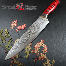 GRANDSHARP 67 Layers Japanese Damascus Steel Damascus Chef Knife 8 Inch VG-10 Blade Damascus Kitchen Knife Pakka Handle PRO(China)